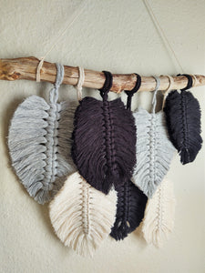 Feather Wall Hanging - Black/White/Grey