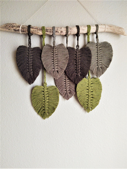 Feather Wall Hanging - Green