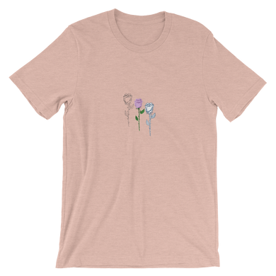 Diagonal Rose Unisex T-Shirt -  - Ink Apparel