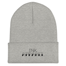 Load image into Gallery viewer, Black Text Logo Cuffed Beanie - Hat - Ink Apparel