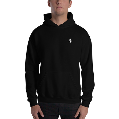(Black) Homer Hooded Sweatshirt - Ink Apparel Company