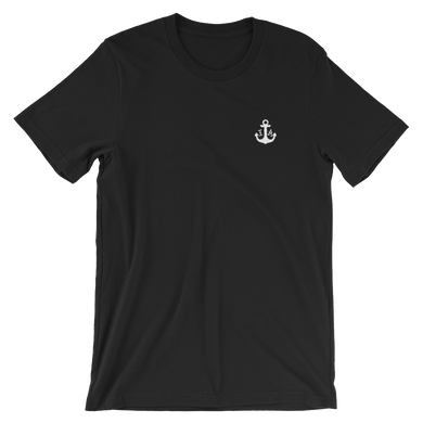 (Black) Anchor Unisex T-Shirt -  - Ink Apparel