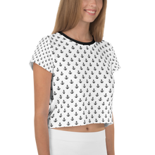 Load image into Gallery viewer, (White) Anchor Crop Tee -  - Ink Apparel