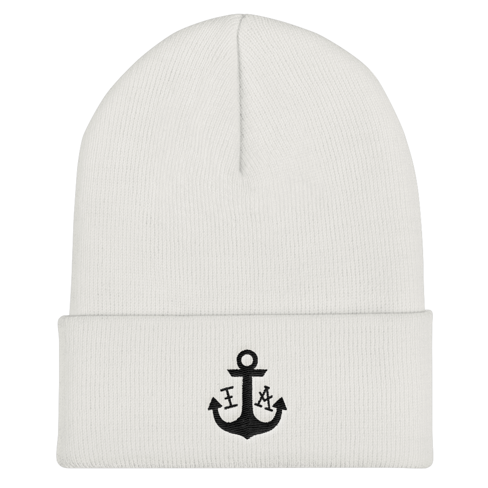 (White) Ink Apparel Cuffed Beanie - Hat - Ink Apparel