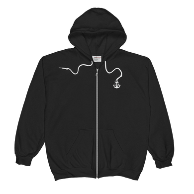 Black Unisex Zip Hoodie - Jacket - Ink Apparel