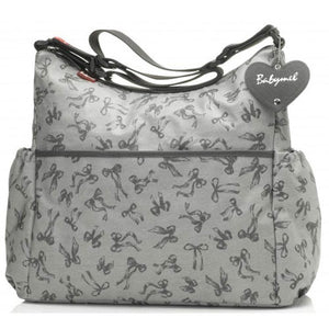 Babymel - Big Slouchy Bow Grey luiertas
