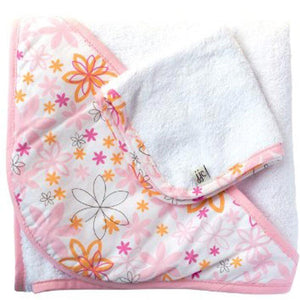 JJ Cole - Hooded Towel Set Pink Craze