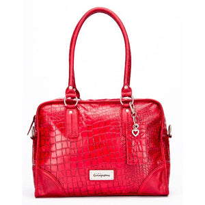 Little Company - Black Label Croco Shoulder Bag Red Luiertas