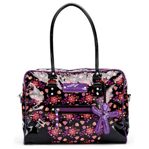 Little Company - LC Today Glossy Bag Black Purple Luiertas