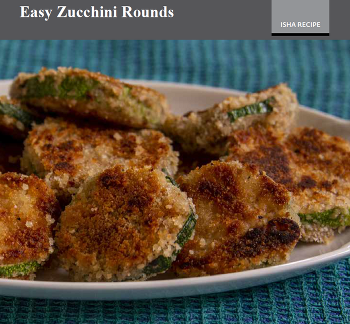 Easy Zucchini Rounds