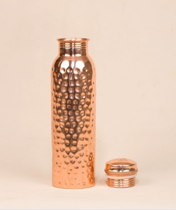 Hammered Copper Water Bottle, 950 ml
