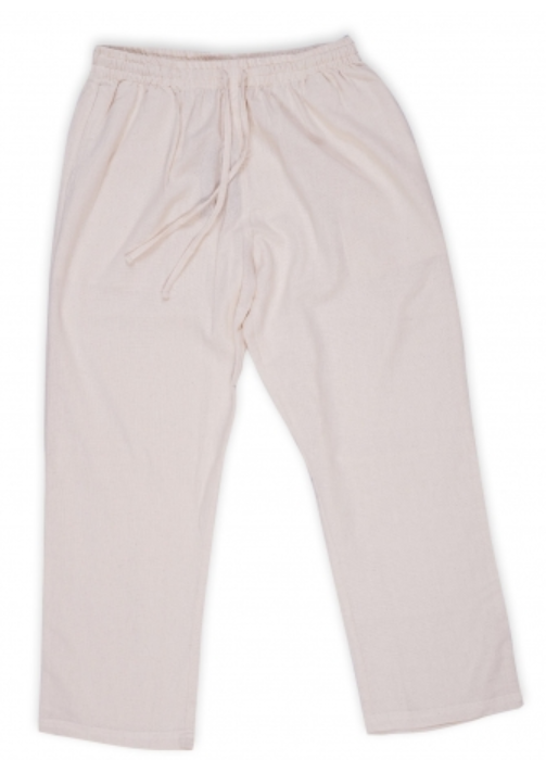 Men Undyed Organic Cotton Drawstring Pant - Off-White