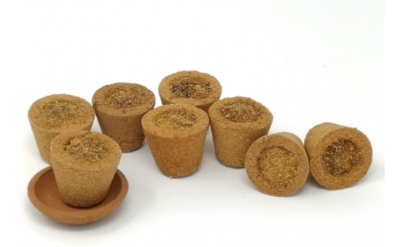 Handmade Sambrani with Cow Dung Cup, 12 pcs