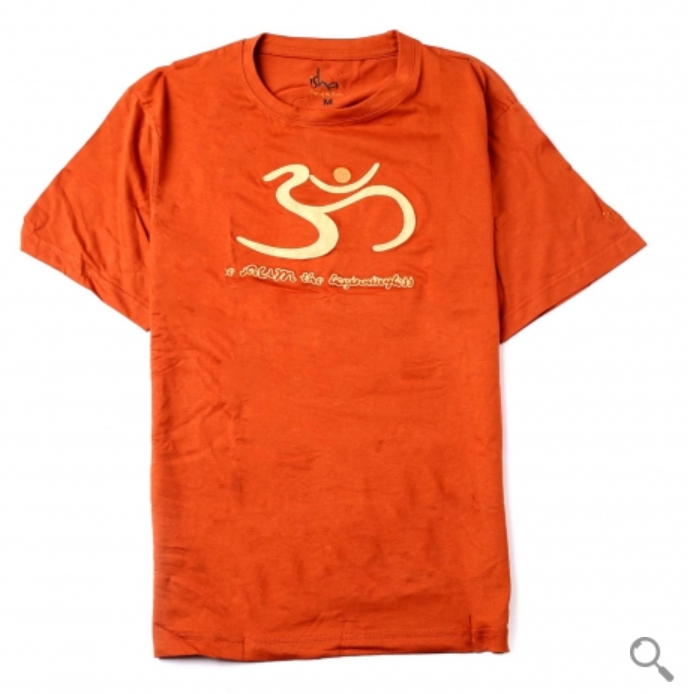 Organic Cotton Aum T-shirt - Orange