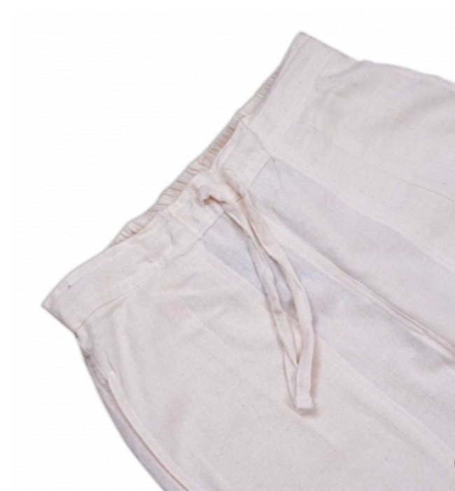 Women Undyed Organic Cotton Drawstring Pant - Off-White