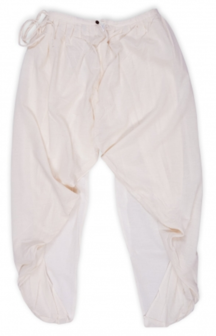 Women Undyed Organic Cotton Dhoti Pant - Off-White