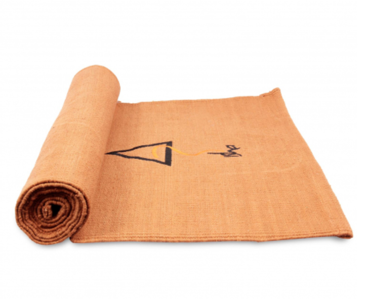 Cotton Rug Yoga Mat - Orange