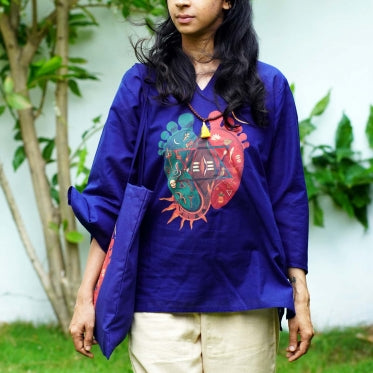 Women Organic Cotton Padam Kurta