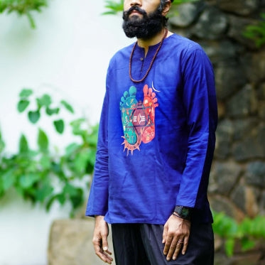 Men Organic Cotton Padam Kurta
