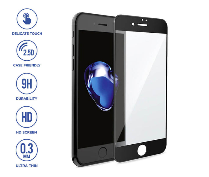 TechXS 9H ARMOUR Tempered Glass for iPHONE 6 Plus - Black Colour