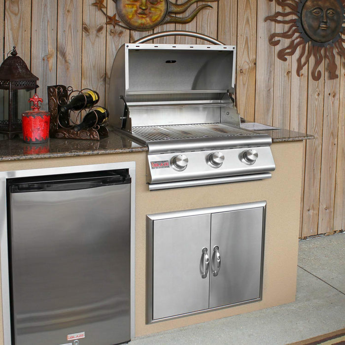 Blaze 25 Inch 3-Burner Built-In Natural Gas Grill