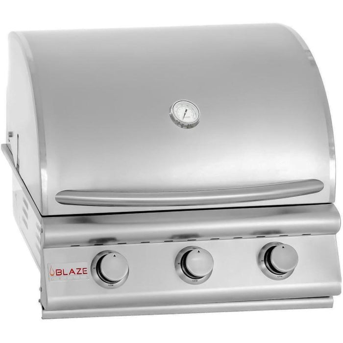 Blaze 25 Inch 3-Burner Built-In Natural Gas Grill - Blaze