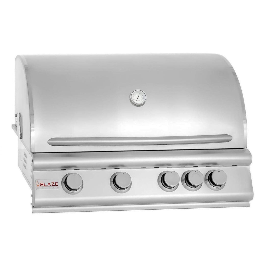 Blaze 32 Inch 4-Burner Built-In Propane Gas Grill With Rear Infrared Burner - Blaze