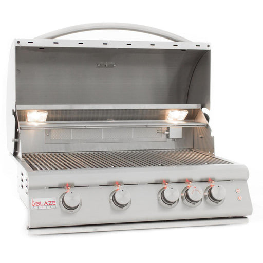 Blaze 4 Burner LTE Grill Built-In NG Grill with Lights