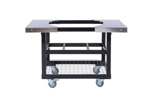 Cart With Basket W/ss Side Shelves Oval Jr 200 - Grill Carts