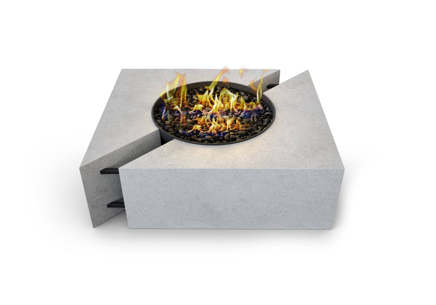 Chaos Concrete Fire Pit Table By Nisho - Nisho