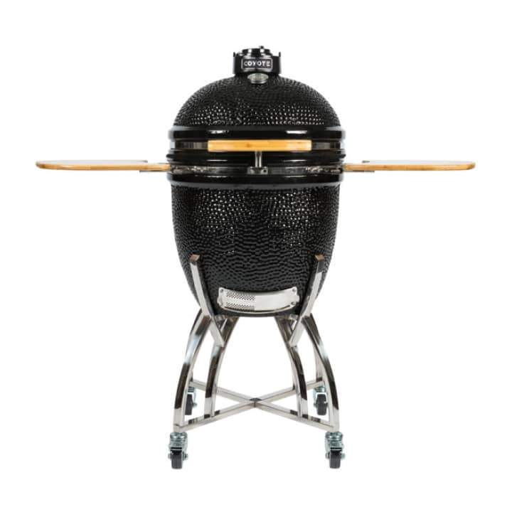 Coyote Asado Smoker by with Stand & Side Shelves - Coyote