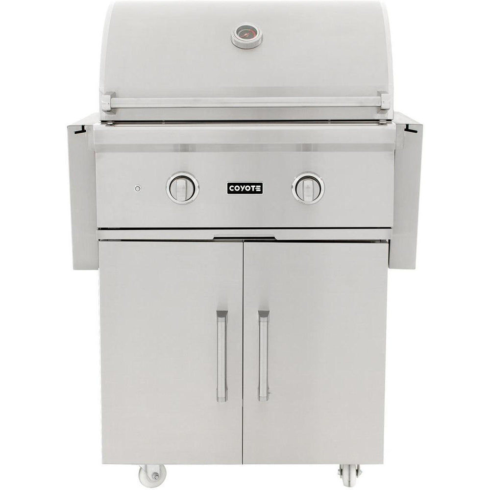 Coyote C Series 28 Inch Grill with Cart  2 Burner