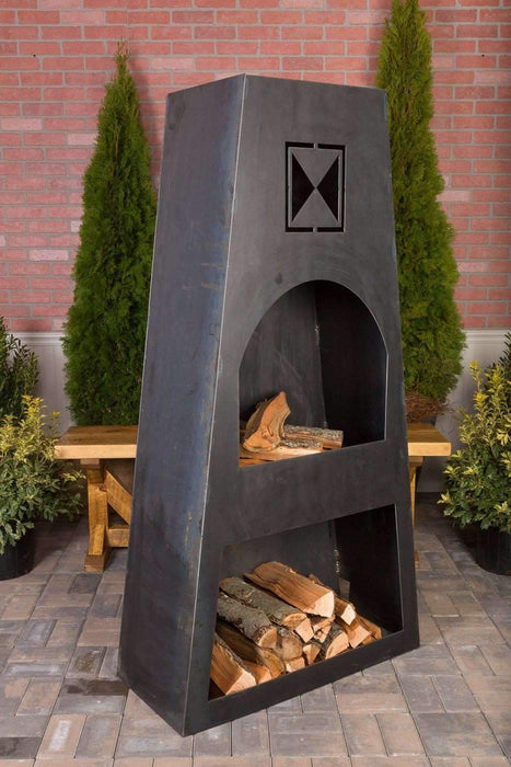 Ember Haus Fire Knight Steel Outdoor Fireplace