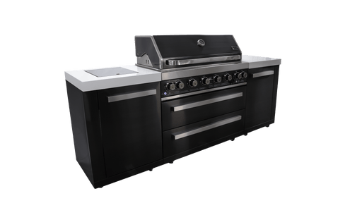 Mont Alpi 805 BBQ Island Gas Grill Black Stainless Steel
