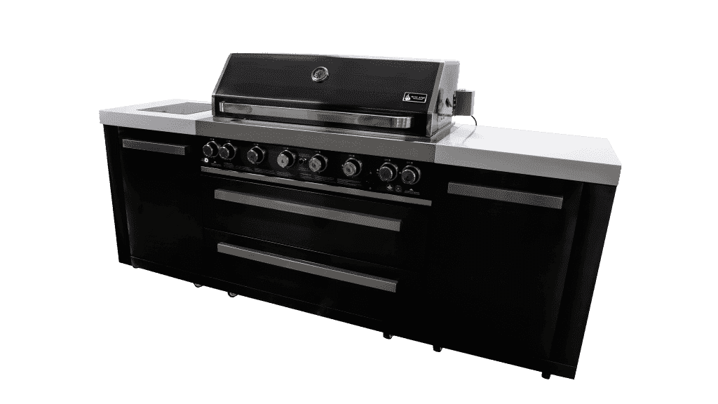 Mont Alpi 805 Island Gas Grill - Black And Stainless Steel - Island