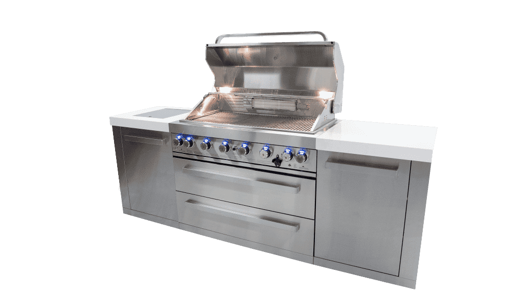 Mont Alpi 805 Island Gas Grill - Stainless Steel - Island