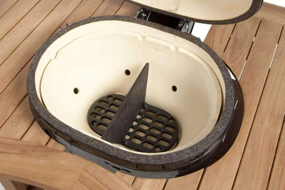 Primo Cast Iron Firebox Divider For Primo Oval Jr 200 Grill - Cast Iron Firebox Dividers Griddles & Grates