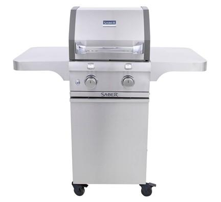 SABER 2-Burner Cast Stainless Cart Grill (LP)