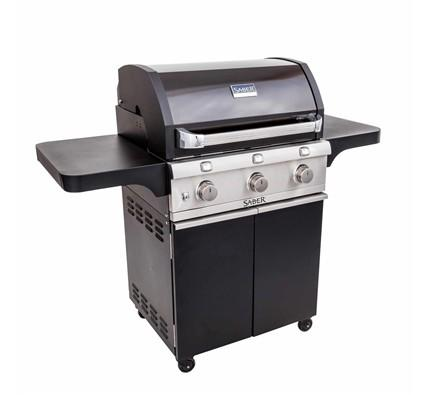 SABER 3-Burner Cast Black Cart Grill (LP)