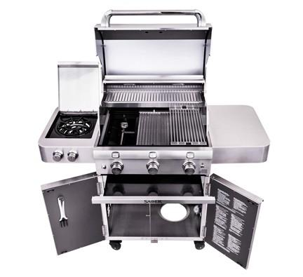 SABER 3-Burner Stainless Cart Grill (LP)