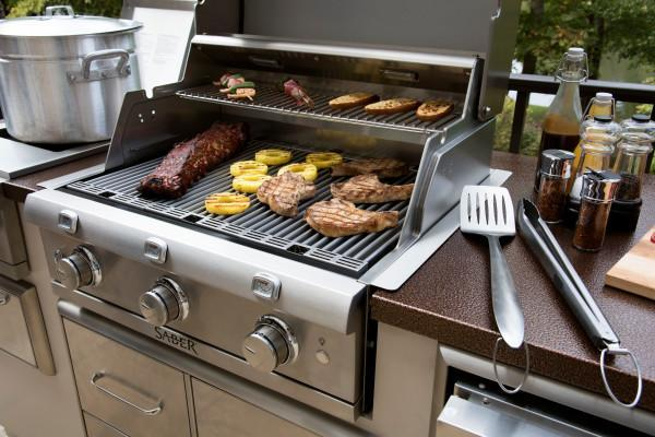 SABER R Series Outdoor BBQ Island Grill - Natural Gas