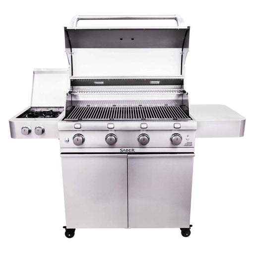 SABER Stainless Steel 4-Burner Propane Gas Grill