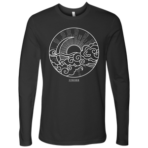 NEXT LEVEL MEN LONG SLEEVE SUN MOON WHITE