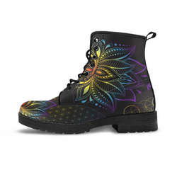 Lotus Flower Chakra Vegan Boot Women's and Men's