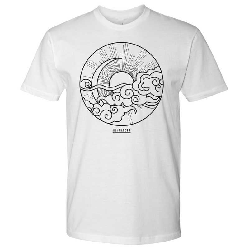 NEXT LEVEL MEN T-SHIRT SUN MOON BLACK