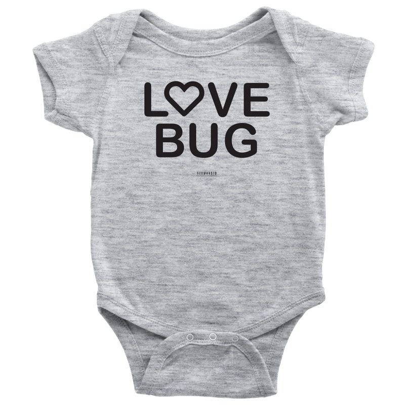 LOVE BUG BABYSUIT BLACK
