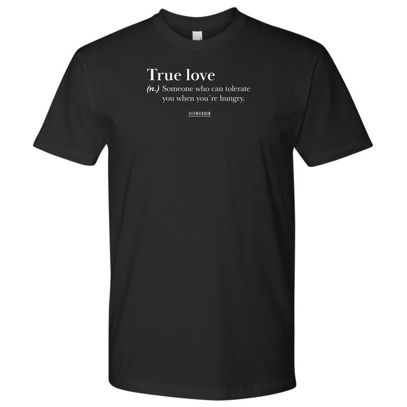 TRUE LOVE MEN TSHIRT BLACK