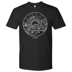 NEXT LEVEL MEN T-SHIRT SUN MOON WHITE