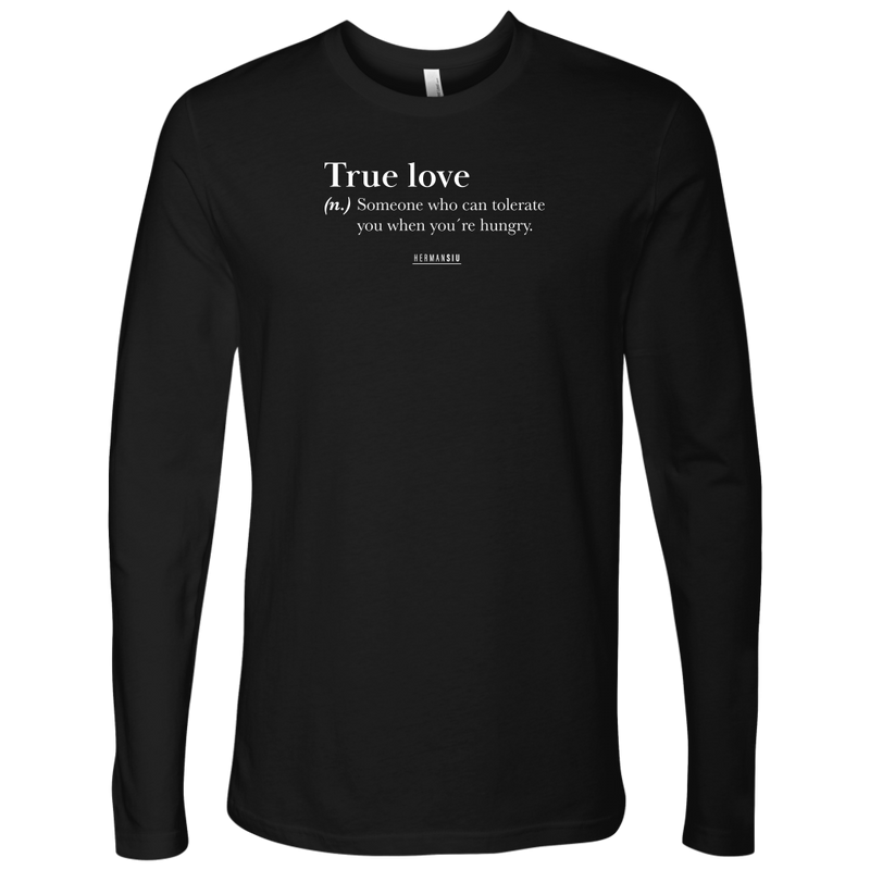 TRUE LOVE LONG SLEVE BLACK