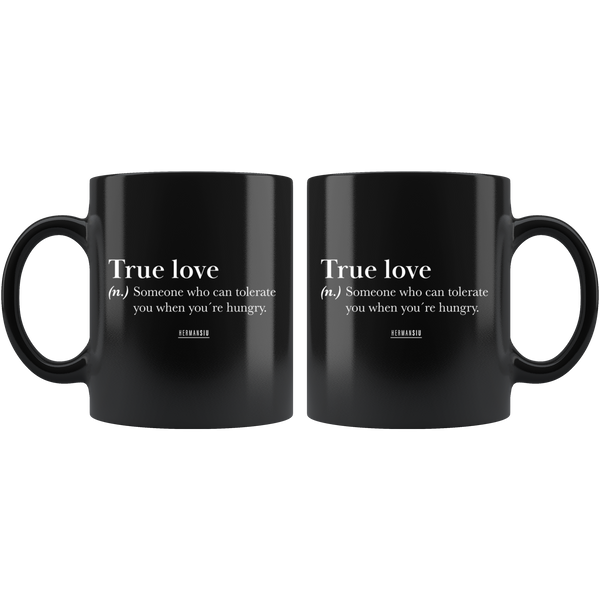 BLACK MUG TRUE LOVE